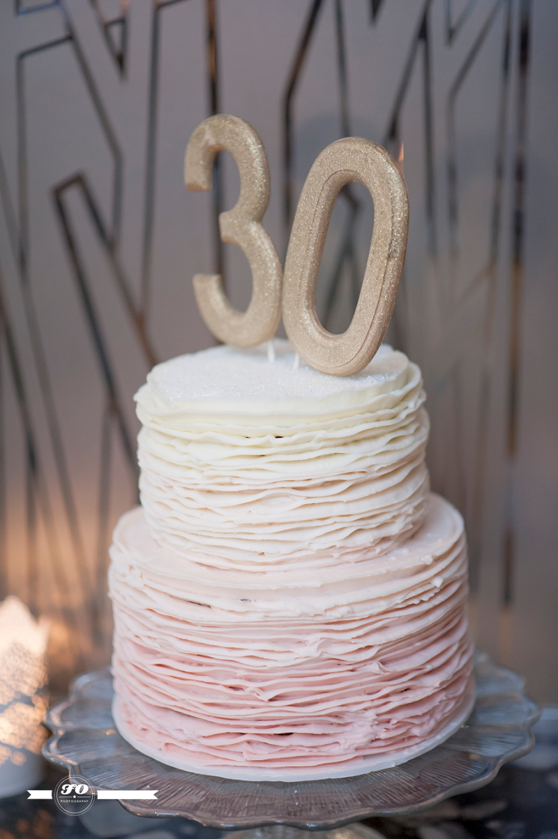 Ombre Ruffles Cake By Affair